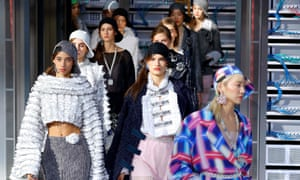 Models in the spring/summer 2017 Chanel catwalk show