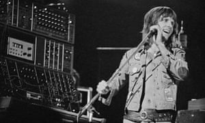Keith Emerson performing with Emerson, Lake & Palmer in 1972 at the Hammersmith Odeon in London.