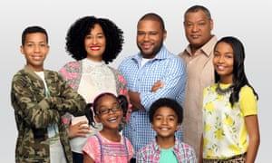 The cast of 'whip-smart' US sitcom Black-ish.