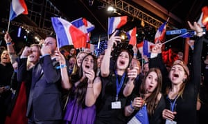 French far-right Rassemblement National (RN) makes gains during European Union electionsepa07604901 Supporters of the Rassemblement National (RN) celebrate after the projections for the results of the European Parliament elections at the RN headquarters in Paris, France, 26 May 2019 (issued 27 May 2019). The European Parliament election is held by member countries of the European Union (EU) from 23 to 26 May 2019. EPA/CHRISTOPHE PETIT TESSON