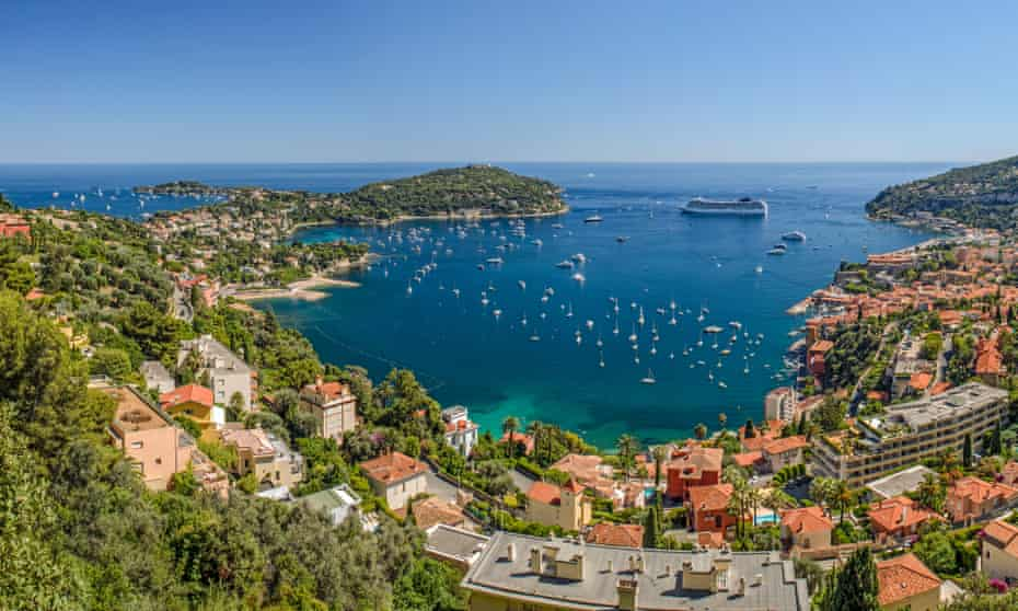 High Level Panorama of Viilefranche Cote d'Azur