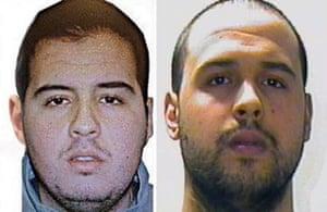 Brothers Ibrahim el-Bakraoui, left, and Khalid el-Bakraoui.