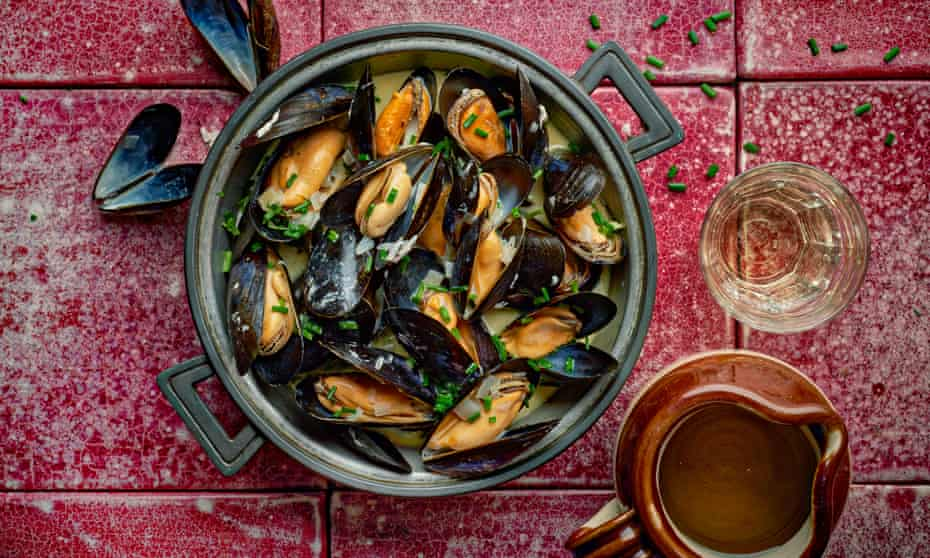 Michel and Albert Roux's mussels in cider.