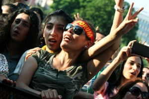 'Germany tried to ban us' … fans at a Grup Yorum concert.