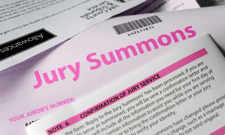 A jury summons letter