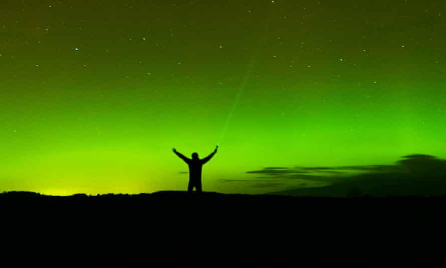 Northern lights over the Eden Valley in Cumbria