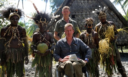 With Frank Gardner in Papua New Guinea