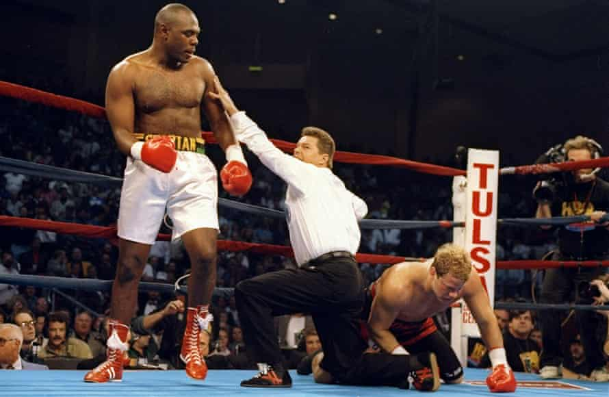 Michael Bentt beats Tommy Morrison to become a world champion.
