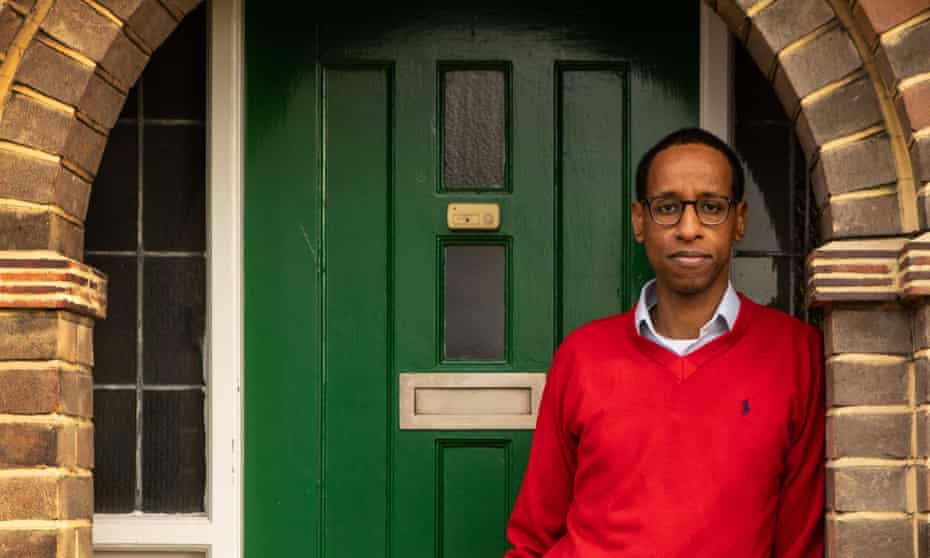 Hashi Mohamed photographed at home in London by Antonio Olmos for the Observer.