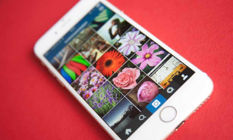 instagram on a phone