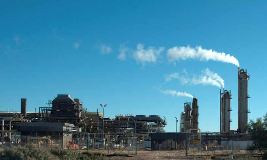 File photo of the Santos-operated Moomba gas plant in South Australia