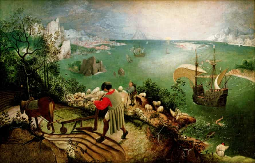 Landscape with the Fall of Icarus by Pieter Bruegel
