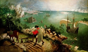Landscape with the Fall of Icarus - by Pieter Bruegel, 1560's<br>DHWKCK Landscape with the Fall of Icarus - by Pieter Bruegel, 1560's
