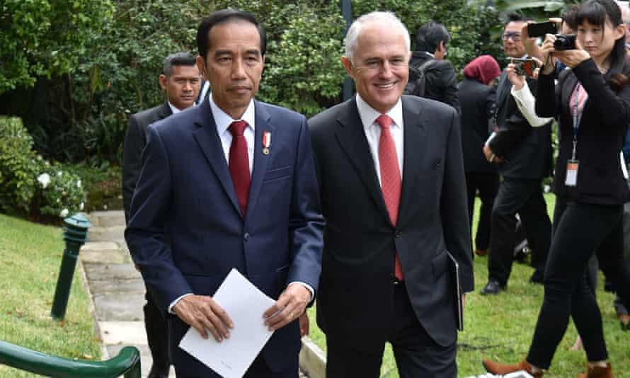 Joko Widodo and Malcolm Turnbull
