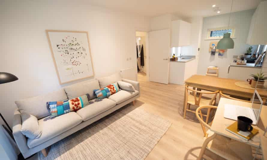 The interior of a Pocket Living flat