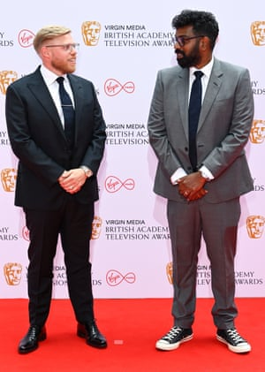 Rob Beckett and Romesh Ranganathan, who are up for the Comedy entertainment programme award.
