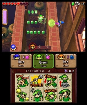 Puzzling … Tri Force Heroes.