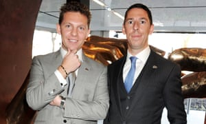 Nick and Christian Candy at the launch of their One Hyde Park development in 2011.