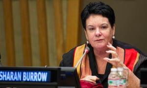 Sharan Burrow says an employer group opposing a binding global convention against gender-based workplace harassment and violence is 'appalling'.
