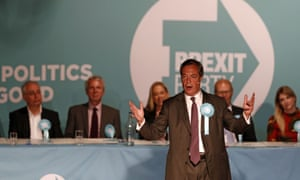 Nigel Farage speaking at a rall at Frimley Green, south west of London, at the weekend.