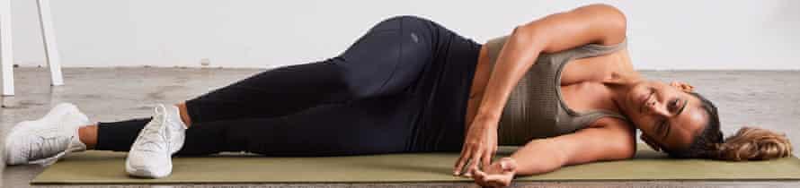 Neck lateral flexion exercise position