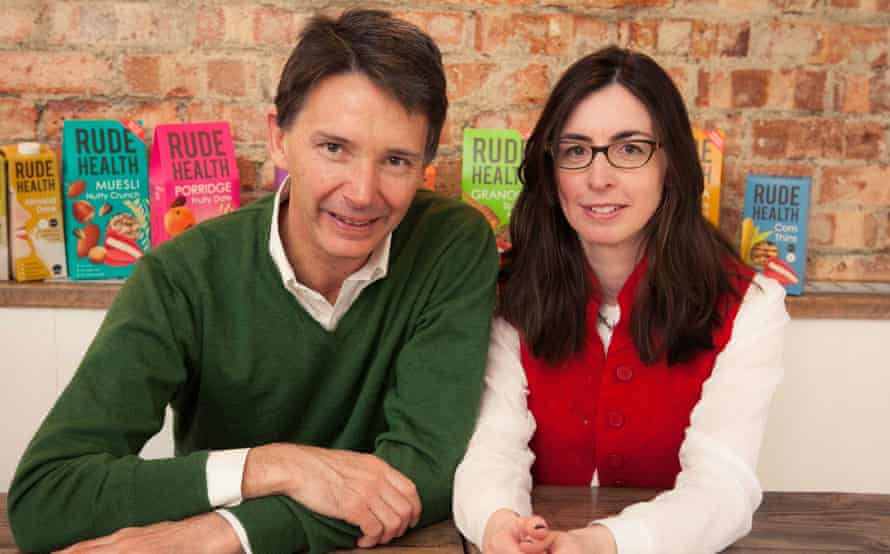 Rude Health founders Nick and Camilla Barnard, who have 'something close to sympathy' for milk