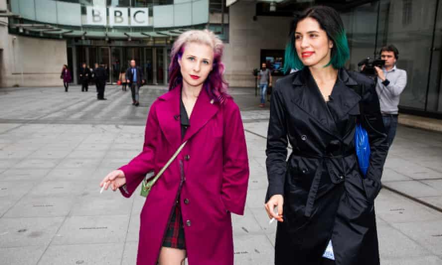 Masha Alyokhina (left) and Nadya Tolokonnikova from Pussy Riot.