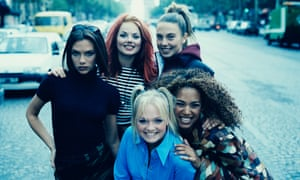 Spice Girls in 1996 (clockwise from left): Victoria Beckham, Geri Halliwell' Melanie Chisholm, Melanie Brown and Emma Bunton.