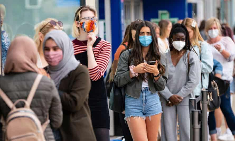 Shoppers in Edinburgh, 24 July 2020