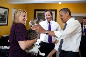Larry meets President Barack Obama