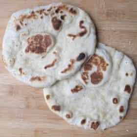 Pitta bread … perfect for picnics.