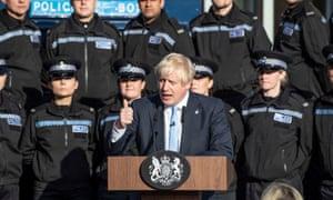 Boris Johnson giving his speech yesterday.