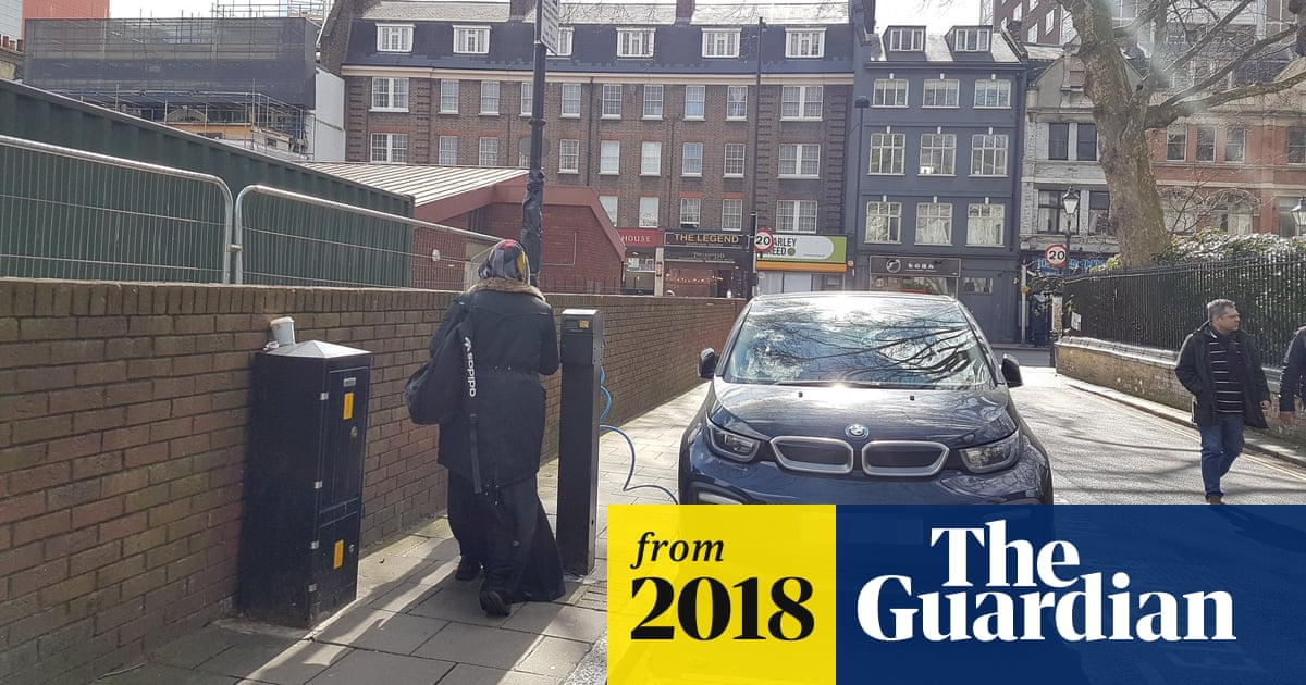 Highly charged: complaints as electric car points block city