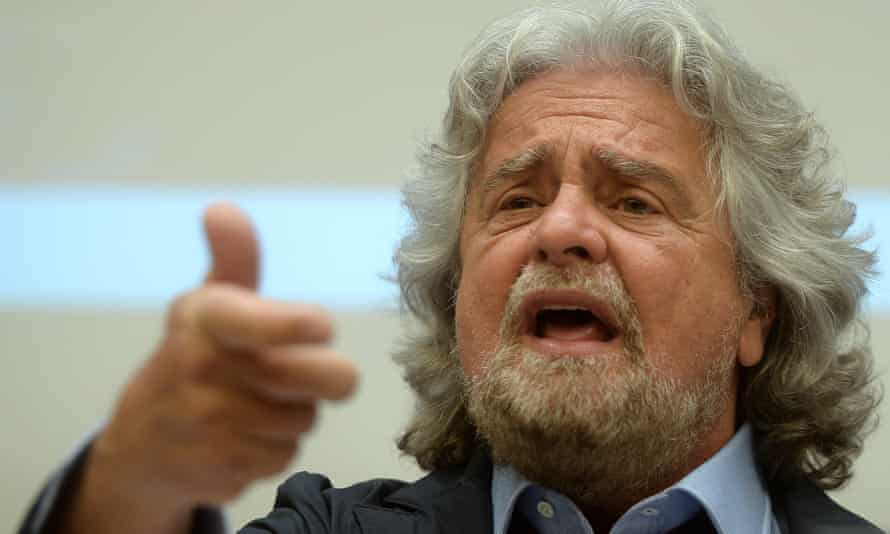 Comedian, actor and political activist Beppe Grillo.