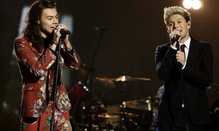 One Direction's Harry Styles (left) and Niall Horan (right) during the X Factor finals