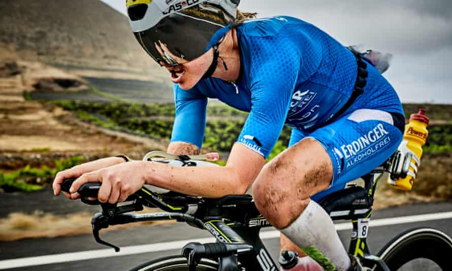 Lucy Gossage in Ironman Lanzarote