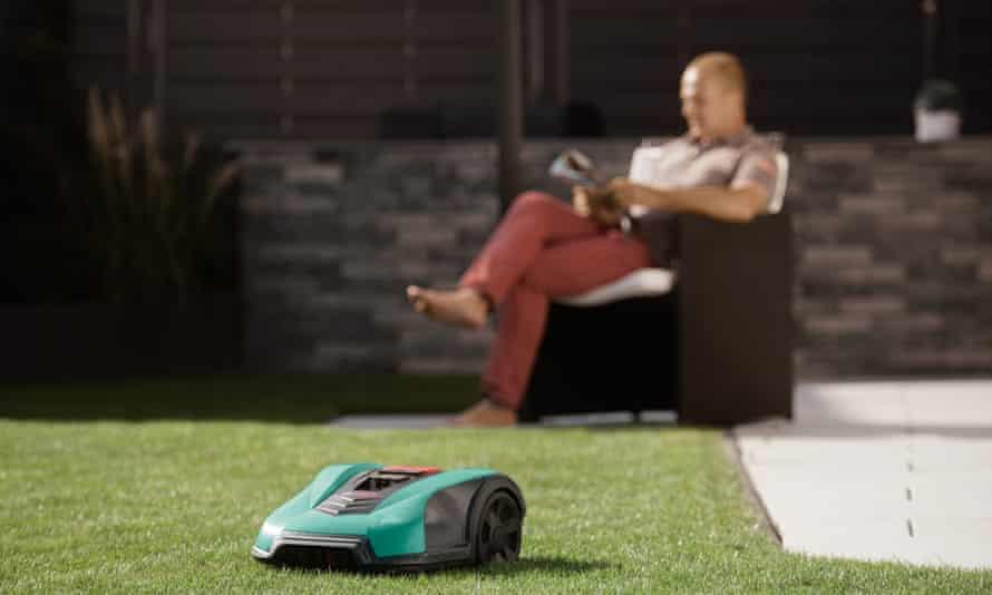Cutting edge … a driverless lawnmower.