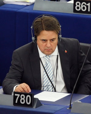 Nick Griffin, the former British National Party leader and member of the European parliament.