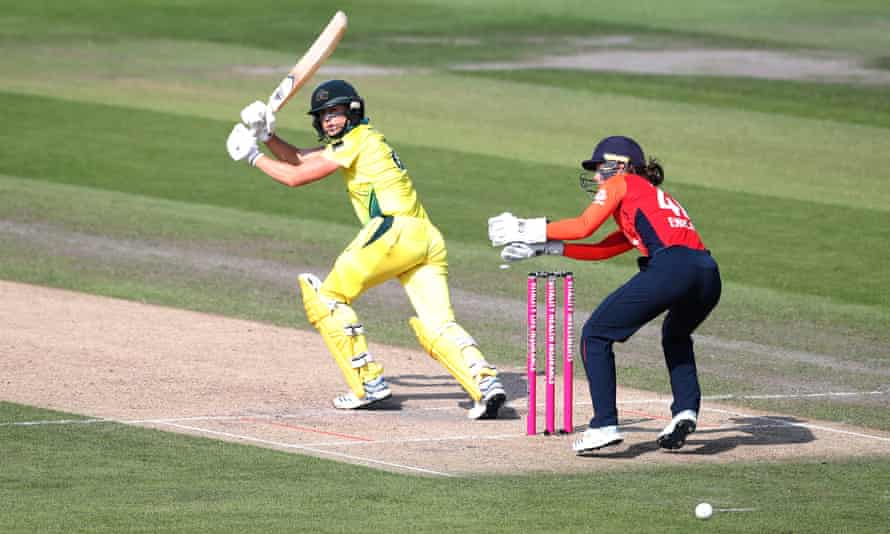 Australia's Ellyse Perry on her way to 47 not out