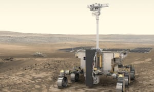 Model of the European Space Agency's ExoMars rover for 2020