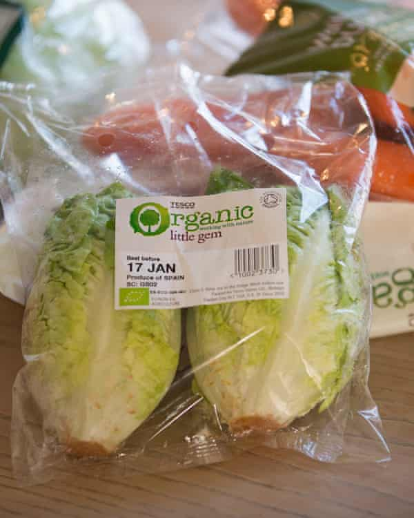 Organic lettuce, but wrapping goes straight in the bin.