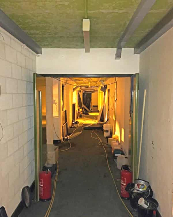 Inside the nuclear bunker.