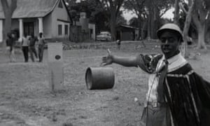Edward Makuka Nkoloso at his Zambian National Academy of Science, Space Research and Philosophy, 1964.