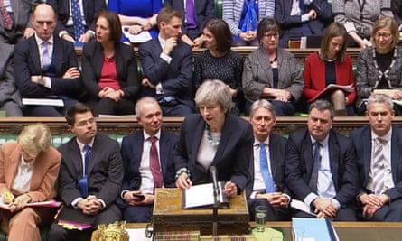 Theresa May tells the Commons that the Brexit withdrawal bill will be deferred.