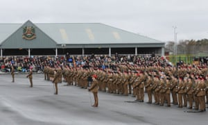A graduation parade at the Army Foundation College in Harrogate