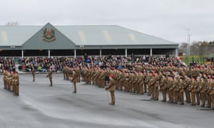 A graduation parade at the Army Foundation College, Harrogate.