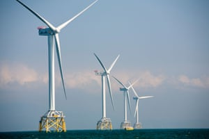 A windfarm in the Irish Sea