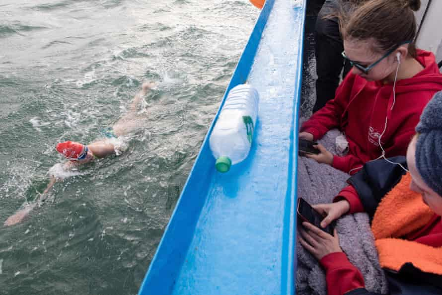 Lucy puts in a strong third swim