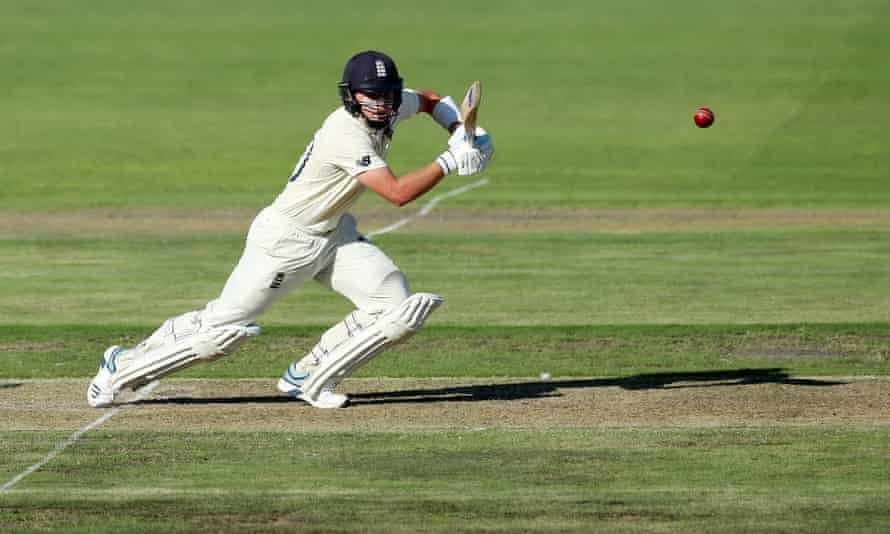 England's Ollie Pope helps steady the ship in Port Elizabeth