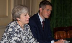 Theresa May with Gavin Williamson